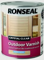Ronseal Crystal Clear Outdoor Varnish 750ml - Satin